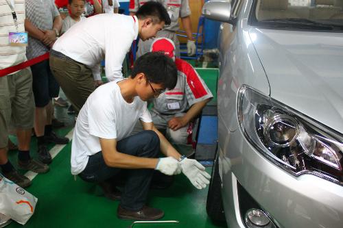 一汽丰田的服务接待流程,二手车置换及认证服务以及专业透明的车间